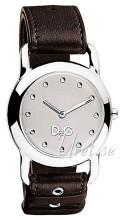 Dolce & Gabbana D&G Jambalaya Silverfärgad/Läder Ø30 mm