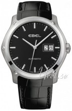 Ebel Classic Hexagon Svart/Läder Ø41 mm