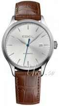 Ebel Classic 100 Silverfärgad/Läder Ø40 mm
