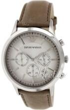 Emporio Armani Silverfärgad/Läder