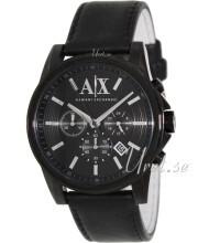 Emporio Armani Exchange Chronograph Svart/Läder