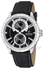 Festina Dress Svart/Läder Ø46 mm