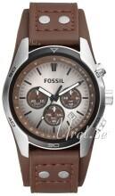 Fossil Casual Silverfärgad/Läder Ø48 mm
