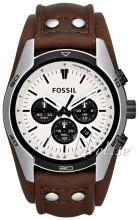Fossil Chronograph Vit/Läder