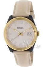 Fossil Boyfriend Roséguldstonad/Läder Ø37 mm