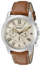 Fossil Beige/Läder Ø45 mm