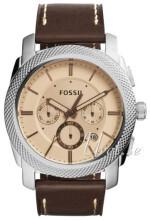 Fossil Machine Roséguldstonad/Läder Ø45 mm