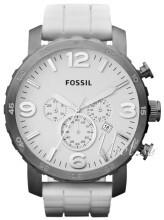 Fossil Nate Vit/Gummi