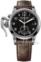 Graham Chronofighter Svart/Läder
