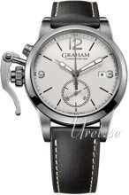 Graham Chronofighter Silverfärgad/Läder