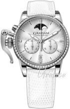 Graham Chronofighter Vit/Läder