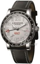 Graham Silverstone Time Zone Silverfärgad/Läder