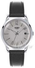 Henry London Piccadilly Silverfärgad/Läder Ø38.5 mm