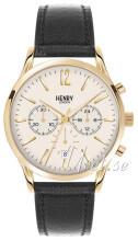 Henry London Harrow Vit/Läder Ø41 mm