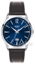 Henry London Harrow Blå/Läder Ø41 mm