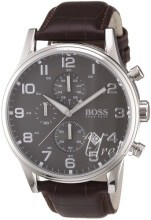 Hugo Boss Grå/Läder Ø44 mm