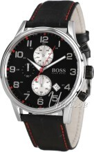Hugo Boss Contemporary Sport Svart/Läder Ø44 mm