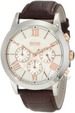 Hugo Boss Chronograph Silverfärgad/Läder