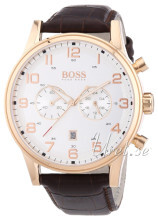 Hugo Boss Vit/Läder Ø44 mm