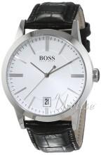 Hugo Boss Silverfärgad/Läder