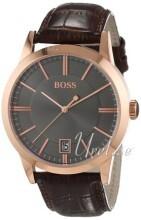Hugo Boss Grå/Läder