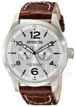 Invicta II Silverfärgad/Läder