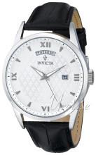 Invicta Vintage Silverfärgad/Läder Ø45 mm