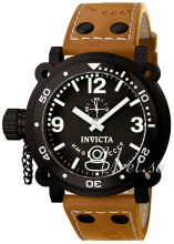Invicta Russian Diver Lefty Svart/Läder