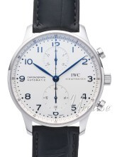 IWC Portuguese Silverfärgad/Läder Ø40.9 mm