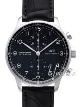 IWC Portuguese Svart/Läder Ø40.9 mm