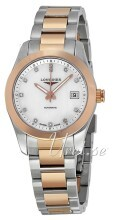 Longines Conquest Ladies Vit/18 karat roséguld Ø29.5 mm