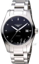 Longines Conquest Svart/Stål Ø40 mm