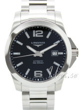 Longines Conquest Svart/Stål Ø41 mm