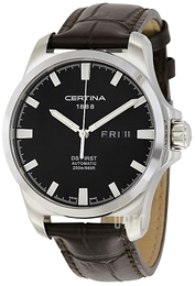 Certina DS First Gent Svart/Läder Ø40.3 mm C014.407.16.051.00