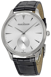 Jaeger LeCoultre Master Ultra Thin Small Second Stainless Steel Silverfärgad/Läder Ø38.5 mm 1278420