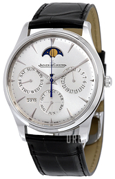 Jaeger LeCoultre Master Ultra Thin Perpetual Stainless Steel Silverfärgad/Läder Ø39 mm 130842J