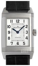 Jaeger LeCoultre Reverso Classic Medium Duetto Stainless Steel Silverfärgad/Läder 2578420
