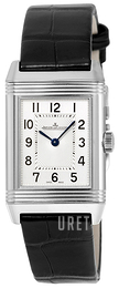 Jaeger LeCoultre Reverso Classic Small Stainless Steel Silverfärgad/Läder 2618430