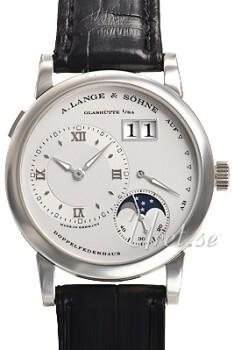 A. Lange & Söhne Lange 1 Moon Phase Silverfärgad/Läder Ø38.5 mm