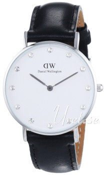 Daniel Wellington Classy Sheffield Vit/Läder Ø34 mm