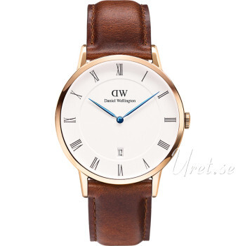 Daniel Wellington Dapper St Mawes Rose Gold Vit/Läder Ø38 mm