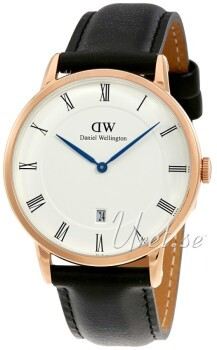 Daniel Wellington Dapper Sheffield Rose Gold Vit/Läder