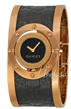 Gucci Twirl Svart/Roséguldstonat stål