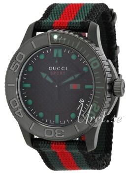 Gucci G-Timeless Svart/Textil Ø44 mm