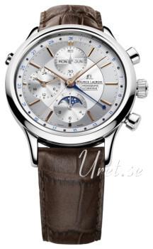 Maurice Lacroix Les Classiques Silverfärgad/Läder
