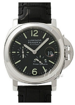 Panerai Contemporary Luminor Power Reserve Svart/Läder Ø44 mm