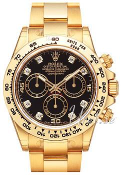 Rolex Cosmograph Daytona Svart/18 karat gult guld