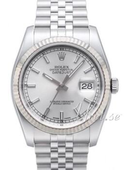 Rolex Datejust Steel Silverfärgad/Stål Ø36 mm