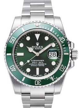 Rolex Submariner Grön/Stål Ø40 mm