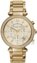 Michael Kors Parker Glitz Champagnefärgad/Gulguldtonat stål